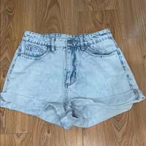 Cotton On high waisted denim shorts